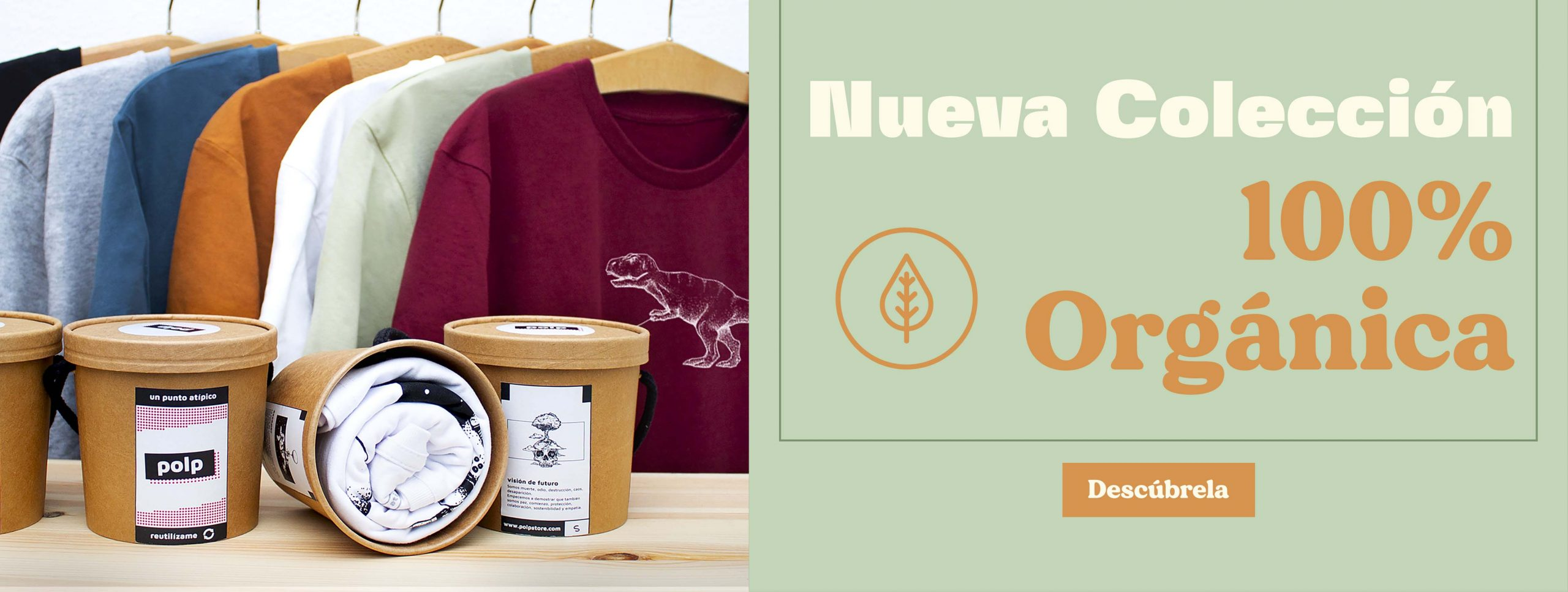 NUEVA colecciÓn de camisetas orgánicas de polp para móvil