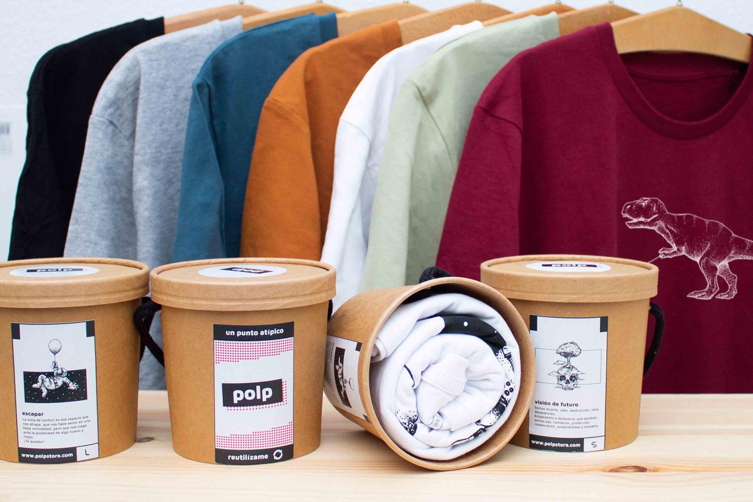 Así es Polp.Camisetas orgánicas ilustradas y envases reutilizables