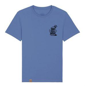 Camiseta hamburgueseria Bang Bang color azul frontal