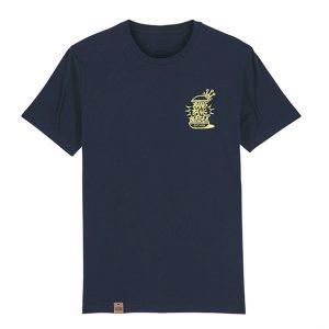 Camiseta hamburgueseria Bang Bang color marino frontal