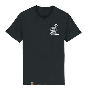 Camiseta hamburgueseria Bang Bang color negro frontal